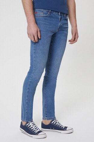 Lee Cooper Pamuklu Slim Fit Jack Jeans Erkek Kot Pantolon 212 LCM 121050 DN1517 MAVİ
