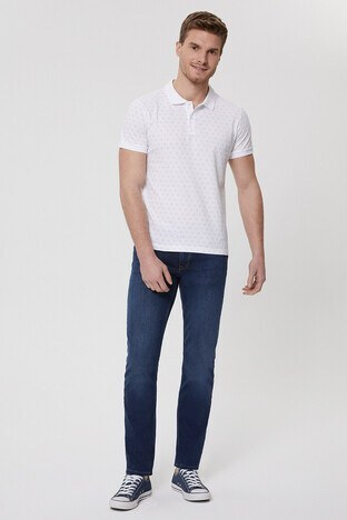 Lee Cooper Pamuklu Slim Fit Jagger Jeans Erkek Kot Pantolon 212 LCM 121024 DN1500 KOYU MAVİ