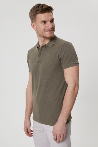Lee Cooper T Shirt Erkek Polo 212 LCM 242023 5201 HAKİ