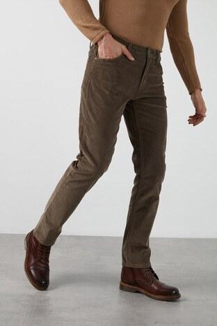 Lee Cooper Ricky Pamuklu Düz Kesim Kadife Erkek Pantolon 211 LCM 221006 9220 OLIVE