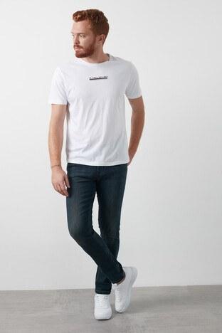 Lee Cooper Slim Fit Pamuklu Jack Jeans Erkek Kot Pantolon 211 LCM 121042 DN1389 LACİVERT