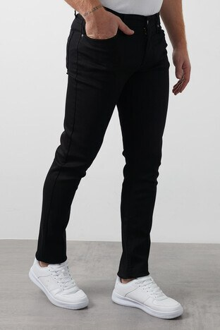 Lee Cooper - Lee Cooper Slim Fit Pamuklu Jagger Jeans Erkek Kot Pantolon 211 LCM 121032 DN0199 SİYAH