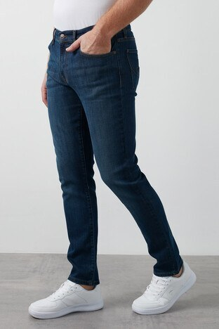Lee Cooper - Lee Cooper Slim Fit Pamuklu Jagger Jeans Erkek Kot Pantolon 211 LCM 121072 DN1426 KOYU MAVİ