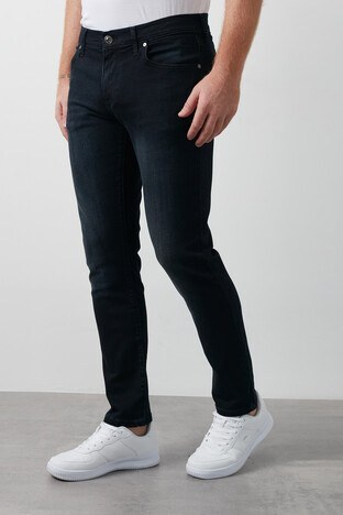 Lee Cooper Slim Fit Pamuklu Jagger Jeans Erkek Kot Pantolon 211 LCM 121075 DN0795 KOYU LACIVERT