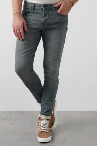 Lee Cooper Slim Fit Pamuklu Jeff Jeans Erkek Kot Pantolon 211 LCM 121065 DN1162 GRİ