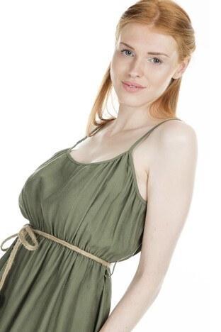 Lela Askılı Bayan Elbise 23430887 HAKİ