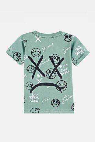 Lela Baskılı Bisiklet Yaka % 100 Pamuk Erkek Çocuk T Shirt 08304 MİNT