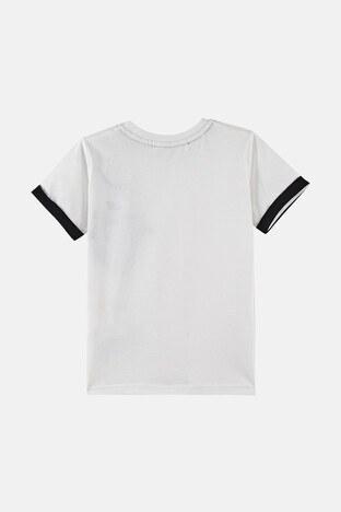 Lela Baskılı Bisiklet Yaka % 100 Pamuk Erkek Çocuk T Shirt 08331 EKRU