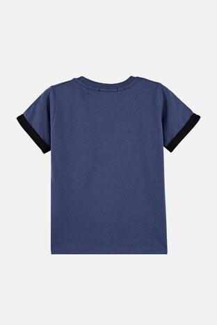 Lela Baskılı Bisiklet Yaka % 100 Pamuk Erkek Çocuk T Shirt 08331 MAVİ