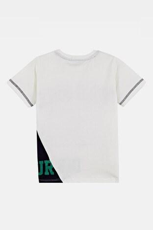 Lela Baskılı Bisiklet Yaka % 100 Pamuk Erkek Çocuk T Shirt 08407 EKRU