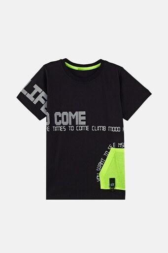 Lela Erkek Çocuk T Shirt 08428 SİYAH