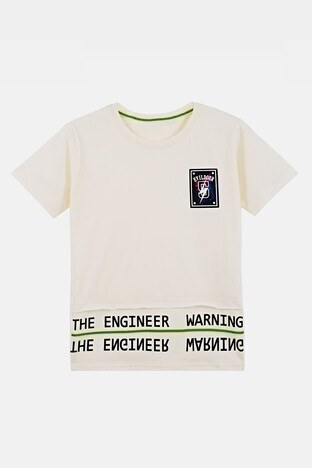 Lela - Lela Erkek Çocuk T Shirt 08328 EKRU