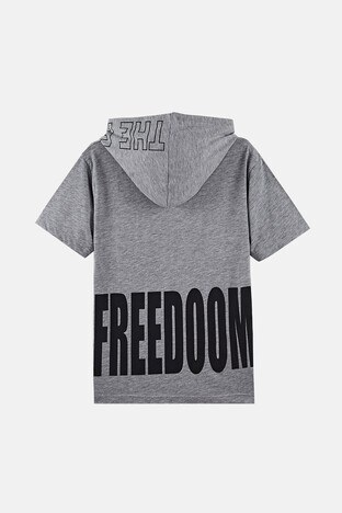 Lela Erkek Çocuk T Shirt 08462 GRİ