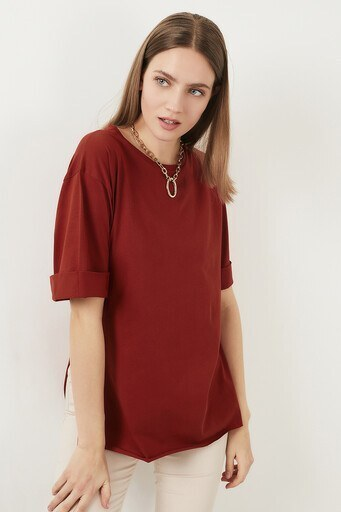 Lela Bayan T Shirt 5411073 KİREMİT
