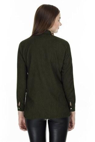 Lela Cep Detaylı Bayan Gömlek MK19W162223 HAKİ