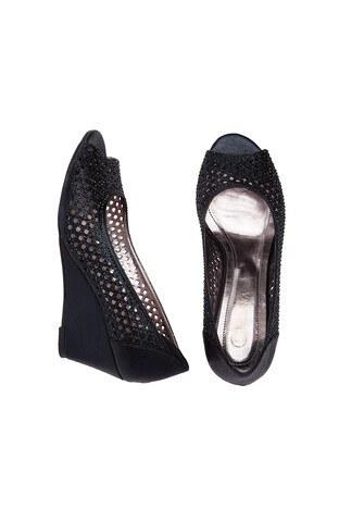 Lela Dolgu Topuk Abiye Bayan Ayakkabı V19Y2084 SİYAH