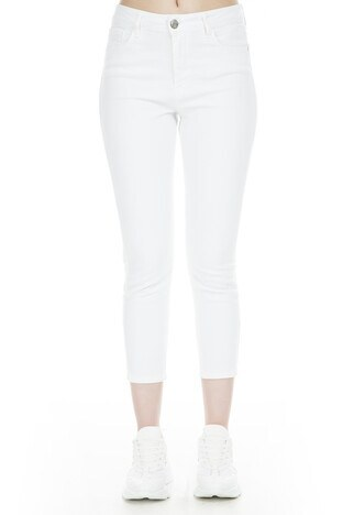 Lela Jeans Bayan Kot Pantolon 8522F413NICOLE BEYAZ
