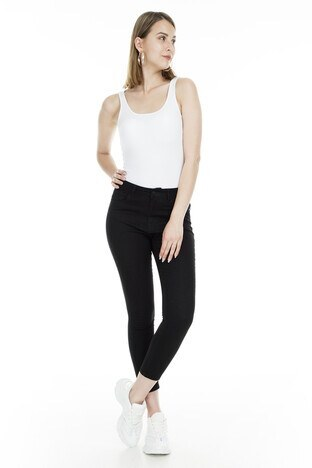 Lela - Lela Jeans Bayan Kot Pantolon 8523F154MARTHA SİYAH