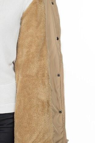 Lela Kapüşonlu Bayan Mont 551M215236 CAMEL