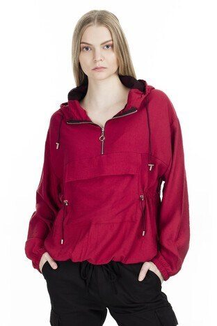 Lela Kapüşonlu Bayan Sweat 5202596 BORDO