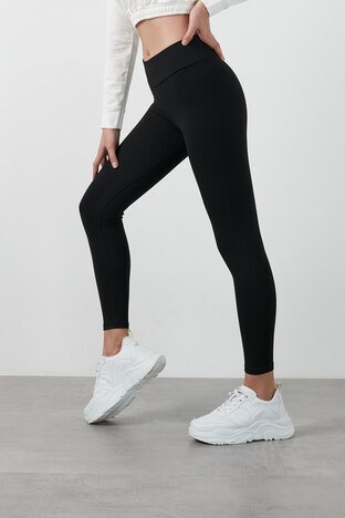 Lela Kışlık Yüksek Bel Toparlayıcı Slim Fit Spor Bayan Tayt 6251616 SİYAH