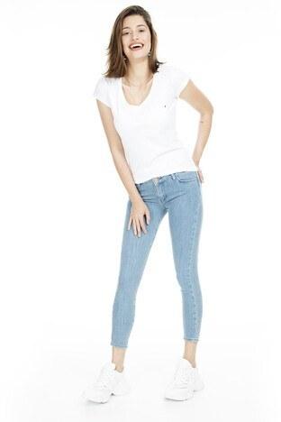 Lela - Lela Normal Bel Skinny Jeans Bayan Kot Pantolon 8507F3431PAULA AÇIK MAVİ