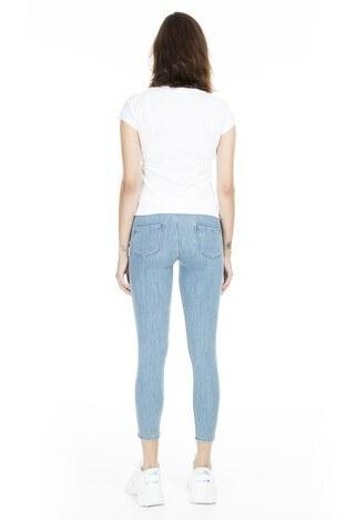 Lela Normal Bel Skinny Jeans Bayan Kot Pantolon 8507F3431PAULA AÇIK MAVİ