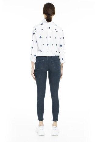 Lela Normal Bel Skinny Jeans Bayan Kot Pantolon 8507F343PAULA LACİVERT