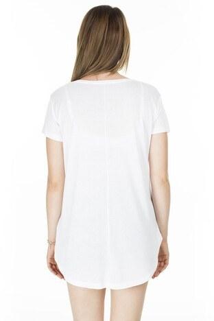 Lela Önü Kısa Arkası Uzun Bayan T Shirt 5411014 BEYAZ
