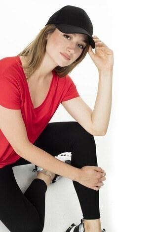 Lela Önü Kısa Arkası Uzun Bayan T Shirt 5411014 KIRMIZI