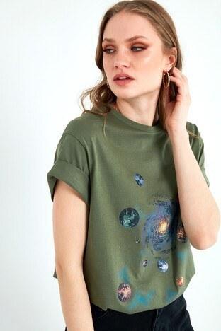Lela Bayan T Shirt 6001013 HAKİ