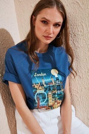 Lela Bayan T Shirt 6001023 İNDİGO