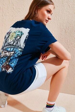 Lela - Lela Bayan T Shirt 6001005 LACİVERT