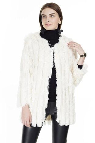 Lela - Lela Suni Kürk Bayan Mont 5202540 BEJ