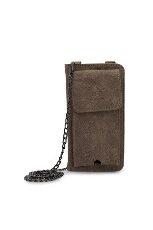Lela - Lela Telefon Bölmeli Zincir Askı Detaylı Bayan Cüzdan 569002 BEJ