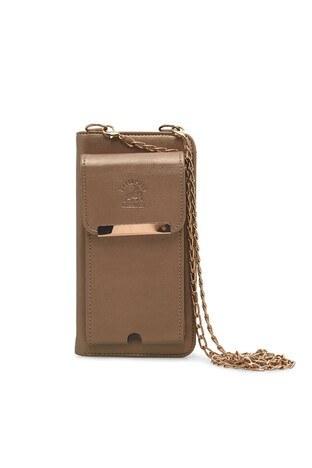 Lela Telefon Bölmeli Zincir Askı Detaylı Bayan Cüzdan 569333 GOLD