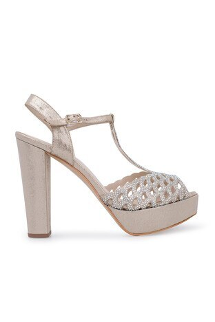 Lela - Lela Topuklu Abiye Bayan Ayakkabı 1840741SIVAMATAS DORE