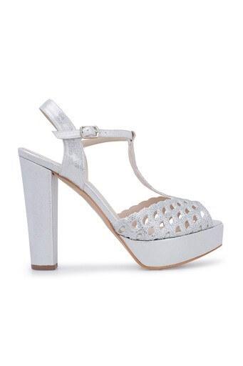 Lela Topuklu Abiye Bayan Ayakkabı 1840741SIVAMATAS LAME