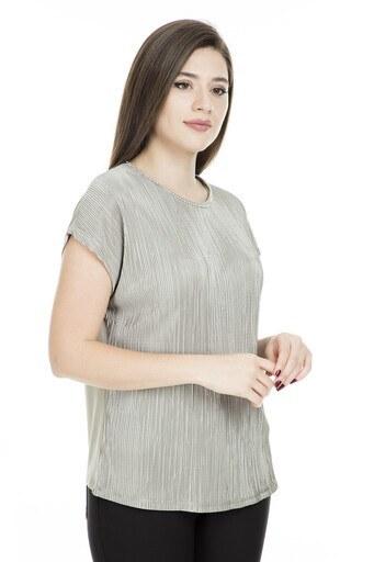 Lela Yakası Taş Detaylı Bayan Bluz 19E070 HAKİ