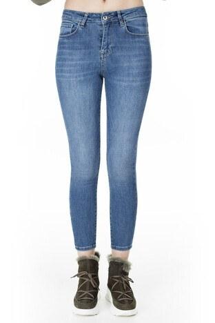 Lela Yüksek Bel Dar Kesim Jeans Bayan Kot Pantolon 8523T744MARTHA1 MAVİ