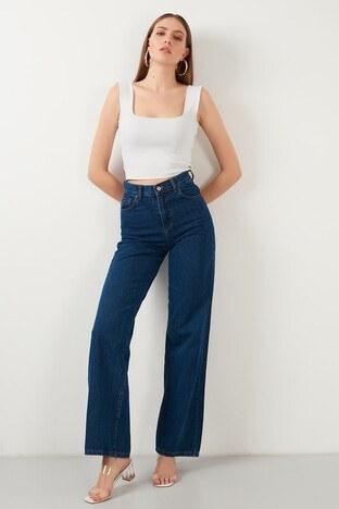 Lela - Lela Jeans Bayan Kot Pantolon 5876041 MAVİ