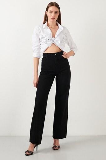 Lela Jeans Bayan Kot Pantolon 5876041 SİYAH