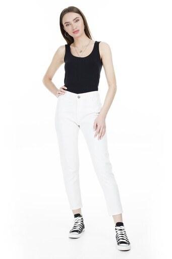 Lela Yüksek Bel Jeans Bayan Kot Pantolon L8522F413NICOLE BEYAZ