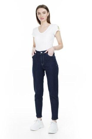 Lela - Lela Yüksek Bel Jeans Bayan Kot Pantolon L8522T756NICOLE LACİVERT