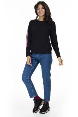 Lela - Lela Yüksek Bel Mom Jeans Bayan Kot Pantolon MK19S460016 MAVİ