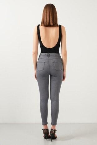 Lela Yüksek Bel Skinny Dar Paça Pamuklu Jeans Bayan Kot Pantolon 58713851 AÇIK GRİ