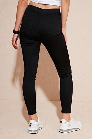 Lela Yüksek Bel Skinny Dar Paça Pamuklu Jeans Bayan Kot Pantolon 58717359 SİYAH