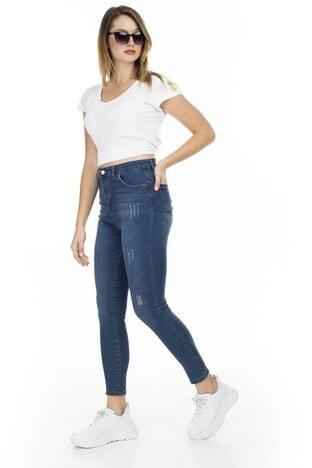 Lela - Lela Yüksek Bel Skinny Jeans Bayan Kot Pantolon 58713266 KAHVE