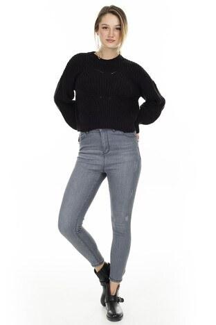 Lela - Lela Yüksek Bel Skinny Jeans Bayan Kot Pantolon 58713269 GRİ