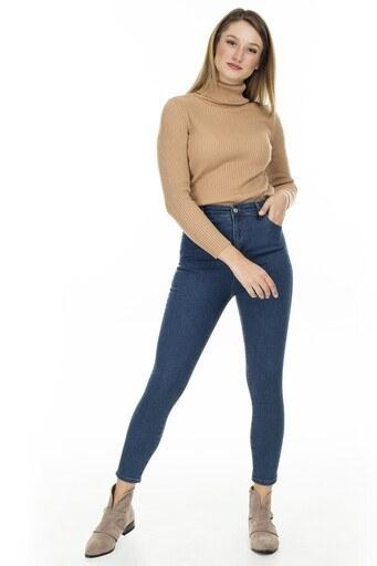Lela Yüksek Bel Skinny Jeans Bayan Kot Pantolon 58714859 YEŞİL TİNT